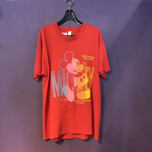 80'S red mickey print T-shirt[B2582]