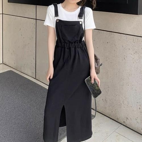レディース オシャレ 夏 人気 吊りスカート シンプル 合わせやすい スカート・ボトムス