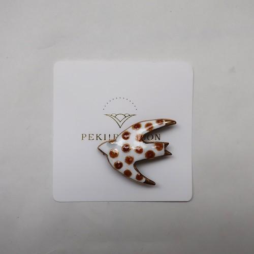 コピー:PEKI!RARIGON ツバメのブローチ E