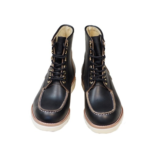 U.S. OIL LEATHER WORK BOOTS MOCA 〈BLACK〉