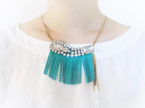 フリンジビジューネックレス vintage necklace bijou fringe <NC-FRB1/2>