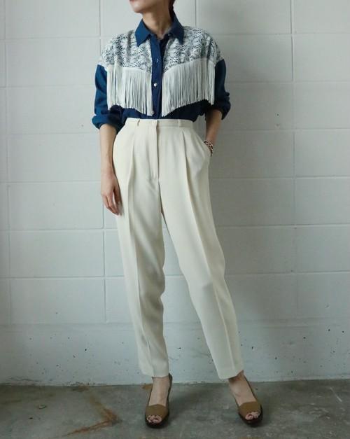 off white high-waist pants