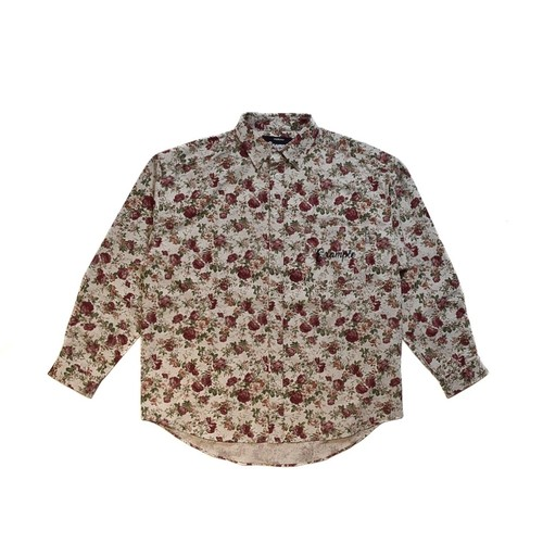 FLOWER CANVAS L/S SHIRT (JAPAN MADE) / WHITE