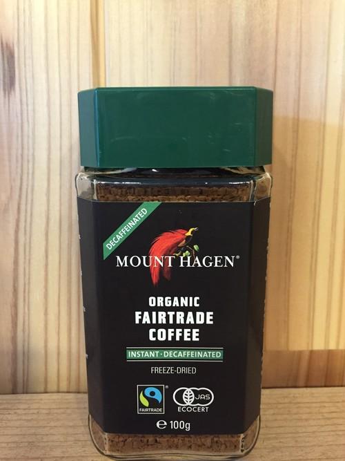MIE マウント ハーゲン オーガニック フェアトレード カフェインレス インスタントコーヒー100g