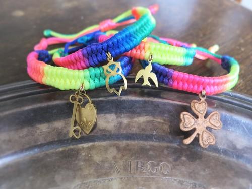 vintage bracelet charm micanga <MCB-CH1/4>