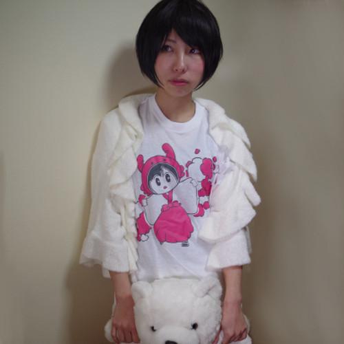 カニ巫女おやすみTシャツ
