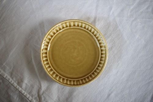 松岡賢司(平安楽堂)|鎬リム皿 S 黄色