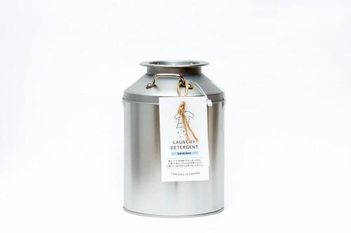 とみおかクリーニング オリジナル洗濯洗剤 ミルク缶