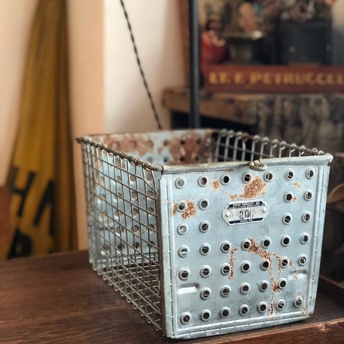 Vintage Steel Basket 206