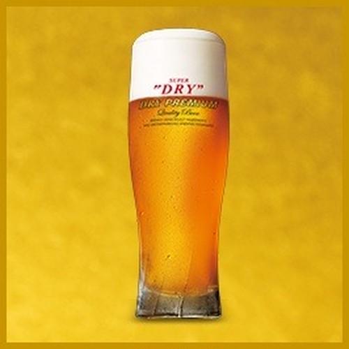 生ビール(アサヒドライプレミアム)中ジョッキ×5杯