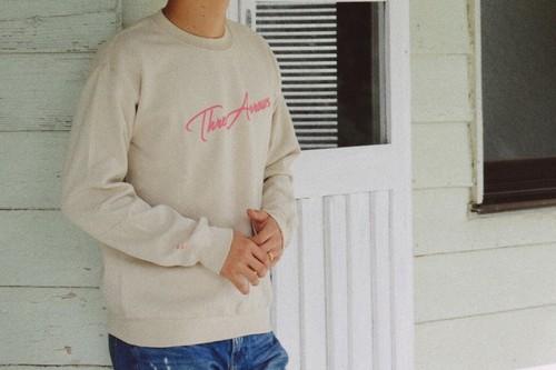 【10/2 21:00発売開始】ThreeArrows スウェット(beige × pink)