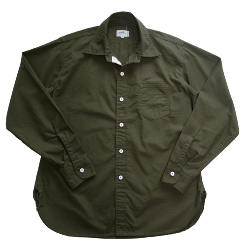 AL No'1 SHIRT - OLIVE Broadcloth