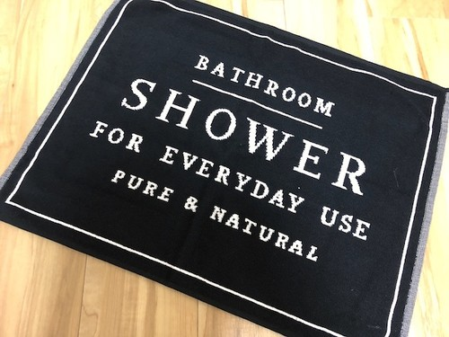 【SHOWER】Bath matte / バスマット(ブラック)