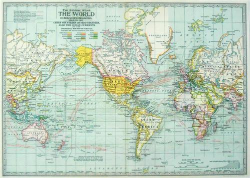 ラッピングペーパー[WM3]ワールドマップ
