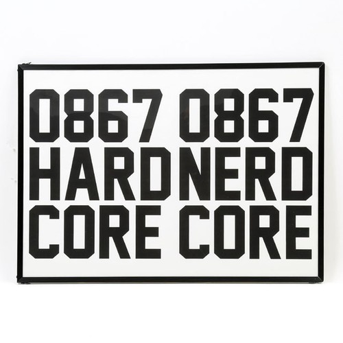 0867 / Hardcore Nerdcore / Poster / Frame / A2 (594 × 420 mm)