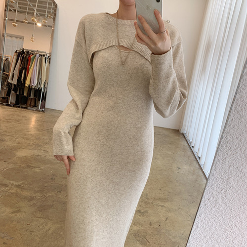 cropped sweater + dress 3c's