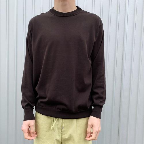 egyptian cotton fine gauge-knit sweater   unfil