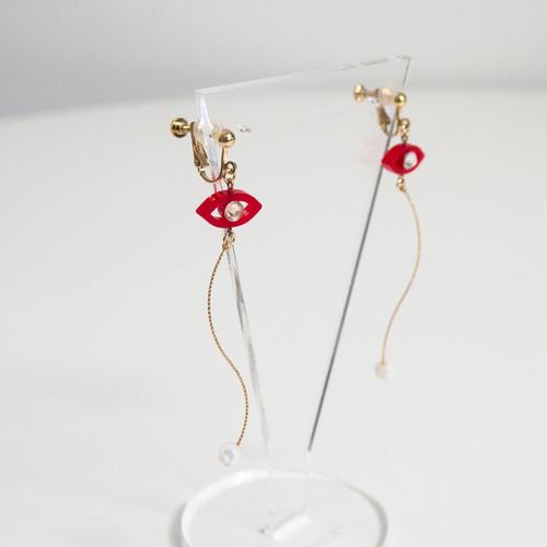 Namida no Ato Pierces / Earrings -red-