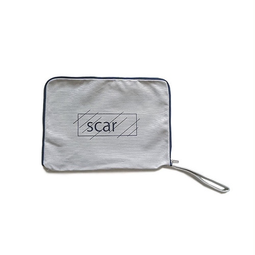 scar /////// OG LOGO CLUTCH BAG (Grey / Navy)