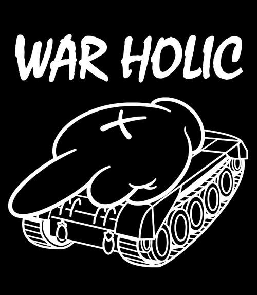 WAR HOLIC タイプM フォントA ( Tシャツ ) ブラック