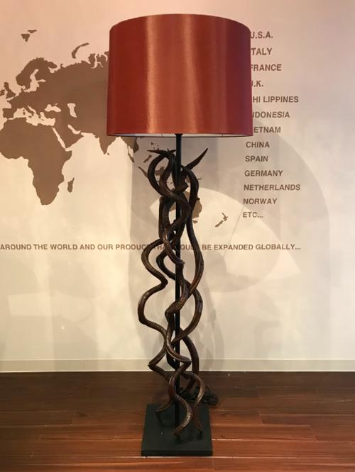 Kudu hone floor stand lamp