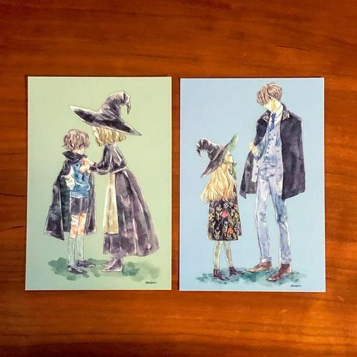 ポストカード:魔女姉弟