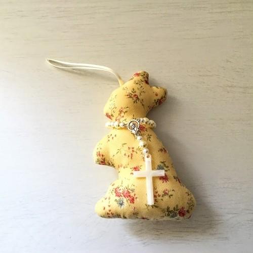 ルルドのうさぎちゃん Bイエロー小花