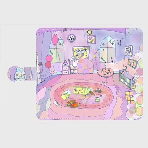 Android Mサイズ ママのお部屋手帳型スマホケース