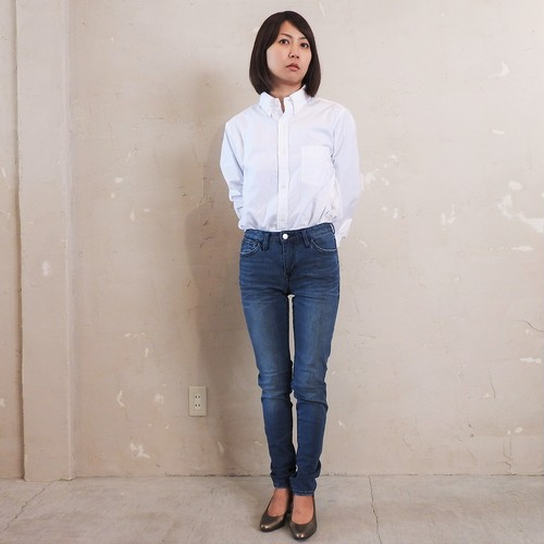 skinny jeans:FADE BLUE