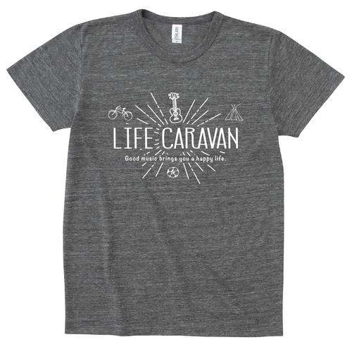 LIFE CARAVAN Tシャツ(ブラック)