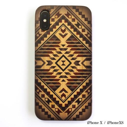 CAMPS iPhoneケース【Native柄】wood 木製カバー