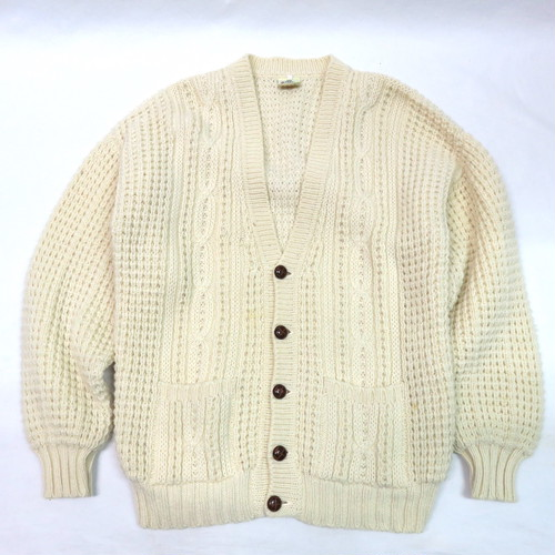 ARAN KNIT CARDIGAN OVER SIZE made in IRELAND