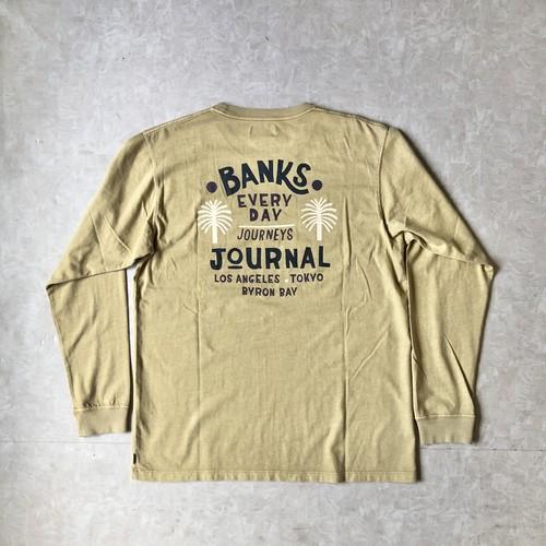 BANKS JOURNAL バンクスジャーナル HOLIDAY L/S Tシャツ ロンT SMLS0001 BEIGE