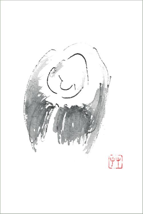 葉書「風羅」筆:合歓木