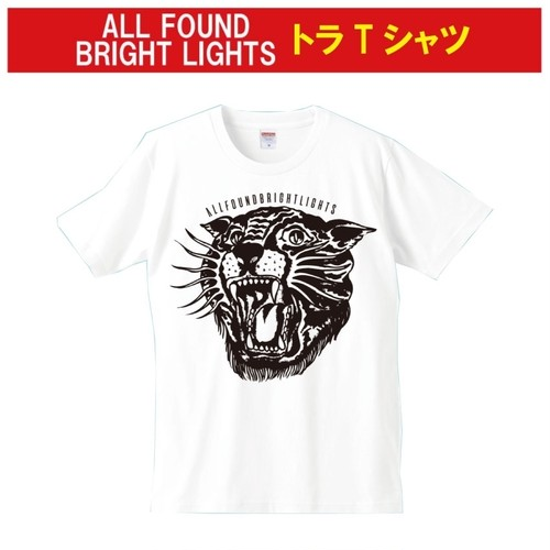 ALL FOUND BRIGHT LIGHTS トラ T-SHIRTS