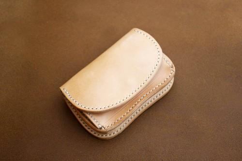 【受注製作】本革サドルレザーのミニマムボックス財布