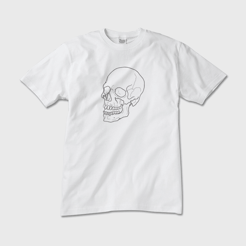 downward 55 The Skull Beneath the Skin TEE(White)