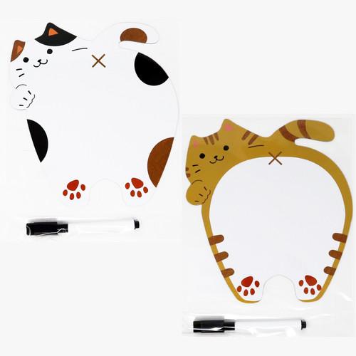 猫ホワイトボードシート(おしりマグネットメモペン付き)
