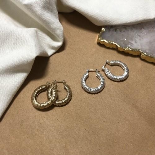 予約注文商品 ビンテージマットサークルピアス ピアス 韓国ファッション