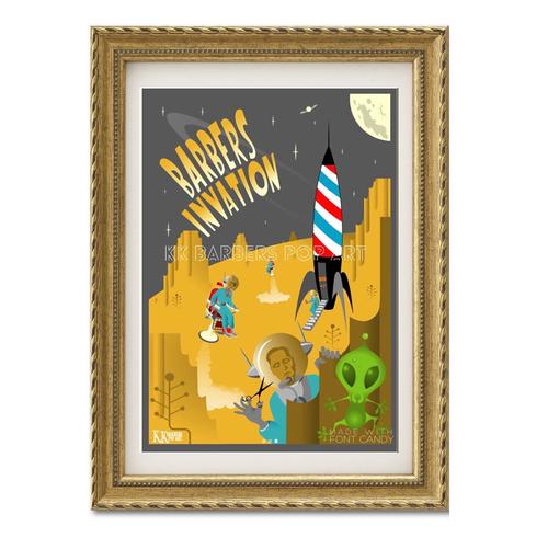 KKバーバーズPOPアート Barber's Invation