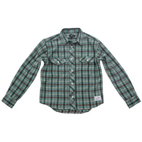 ウールシャツ:グリーン