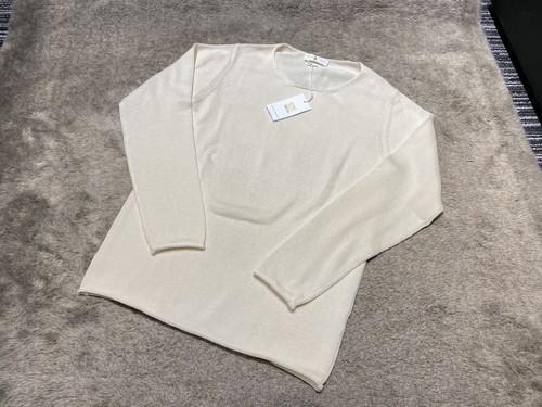 Daniele Fiesoli italia  combed cotton  knit クルーネック オフホワイトベージュ