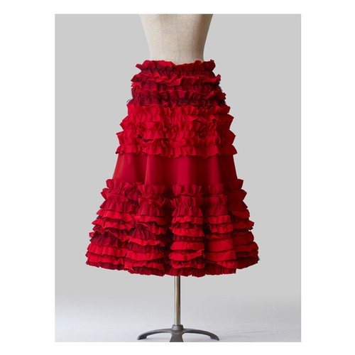 Frilled Skirt 2 Red
