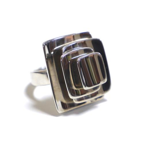 Robert Lee Morris Vintage Sterling Silver Layered Flower Ring