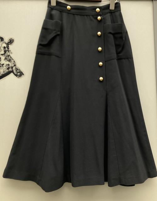 CHANEL Flare Skirt #02 -Black-