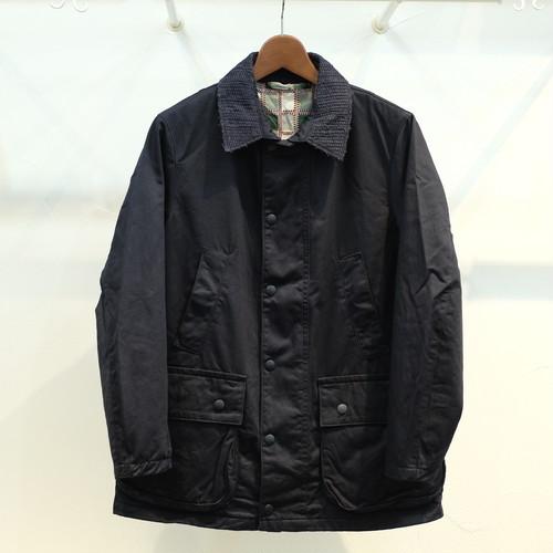 KUON(クオン) 襟裂織りフィールドジャケット(裏吉野格子) ネイビーチノ
