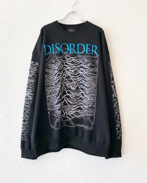 "#2【18062】CREW NECK BIG SWEAT ""DISORDER"""