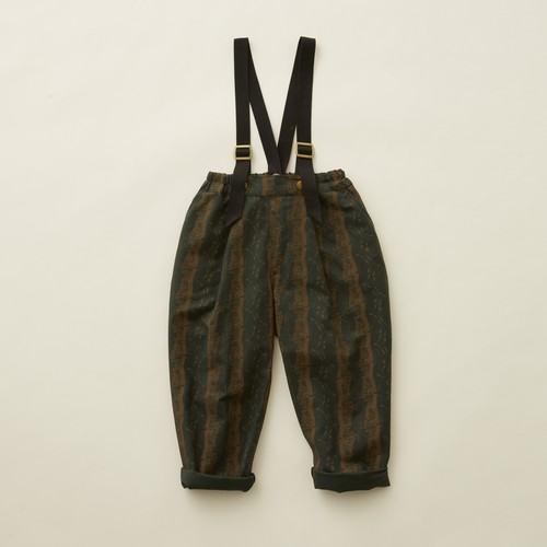 《eLfinFolk 2020AW》castle printed pants / dark green / 80-100cm