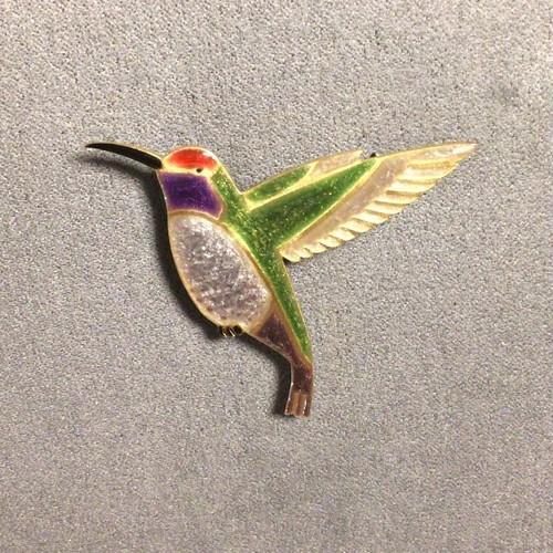 エナメルアクセサリー ブローチ ハチドリ