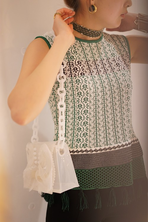 Mame Kurogouchi / KNIT TOPS (GREEN)
